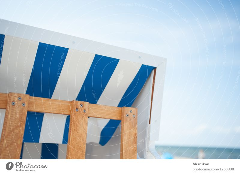 Baltic Vacation & Travel Far-off places Summer Summer vacation Beach Ocean Waves Wood Water Swimming & Bathing Beach chair Baltic Sea Usedom Maritime recover