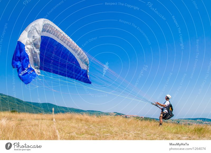 paragliding Sports Fitness Sports Training Fan Human being Young man Youth (Young adults) Man Adults Brother Friendship 1 18 - 30 years Nature Landscape Plant