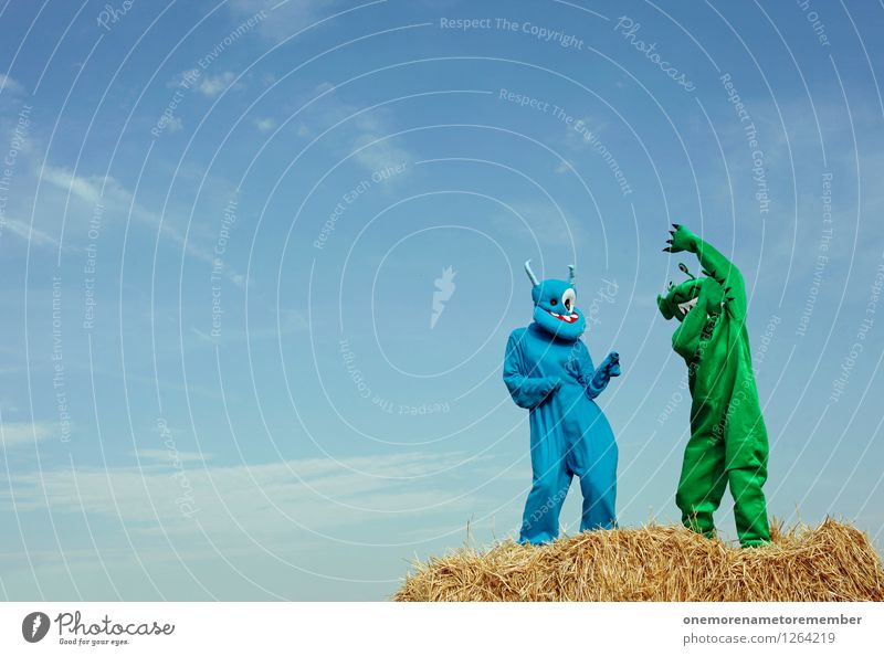 dance move Art Work of art Esthetic Dance Dance event Monster Extraterrestrial being Joy Comical Funster The fun-loving society Absurdity Green Blue Funny Crazy