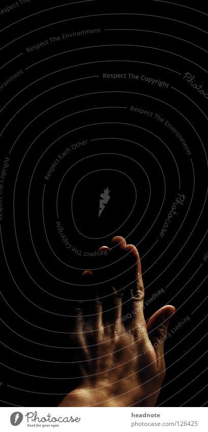STOP Hand Night Dark Black Wet Glittering Door handle Damp Light Fingers Perspiration Beautiful Empty Shadow Skin Back