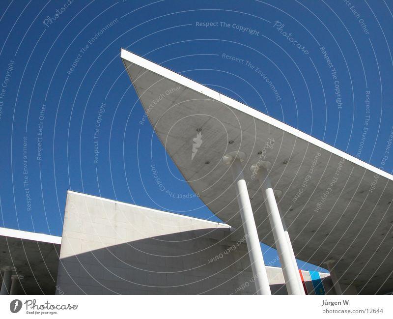 Sky Blue Building Art Architecture Crazy Roof Point Museum Bonn