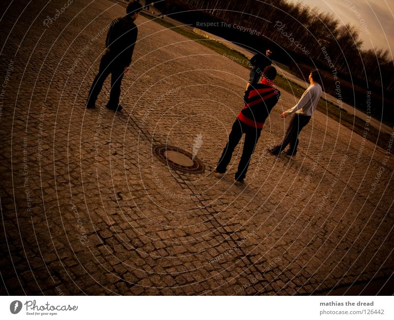 Man Youth (Young adults) Winter Joy Dark Autumn Playing Movement Style Closed Masculine Places Crazy Action Circle Round