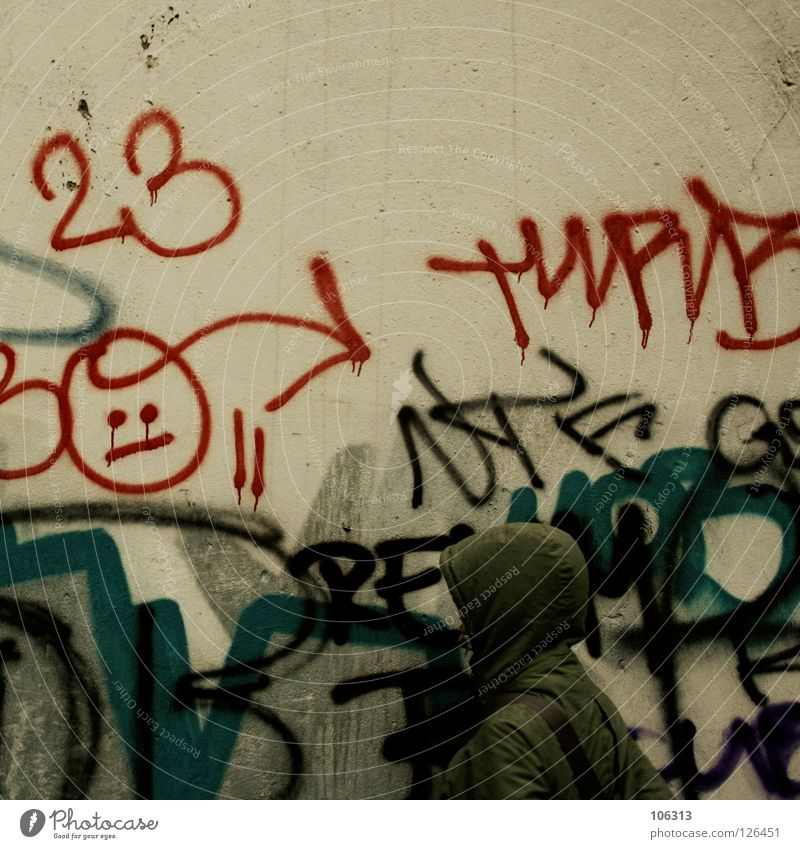 Human being City Red Face Colour Yellow Life Wall (building) Environment Graffiti Style Art Room Pink Dirty Fresh