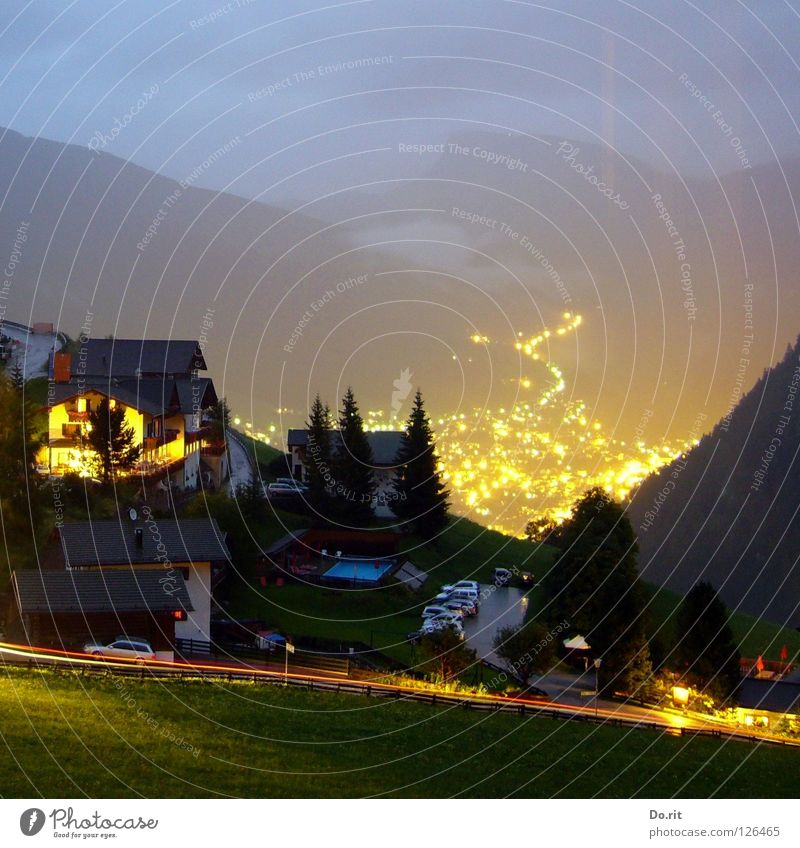 Tree Green Vacation & Travel House (Residential Structure) Clouds Yellow Street Dark Meadow Window Grass Mountain Gray Car Gold Italy