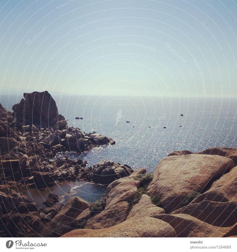 Capo Testa - Outlook Nature Landscape Waves Coast Beach Ocean Moody Vacation & Travel Sardinia Relaxation Far-off places Sea water Stony Rock Blue