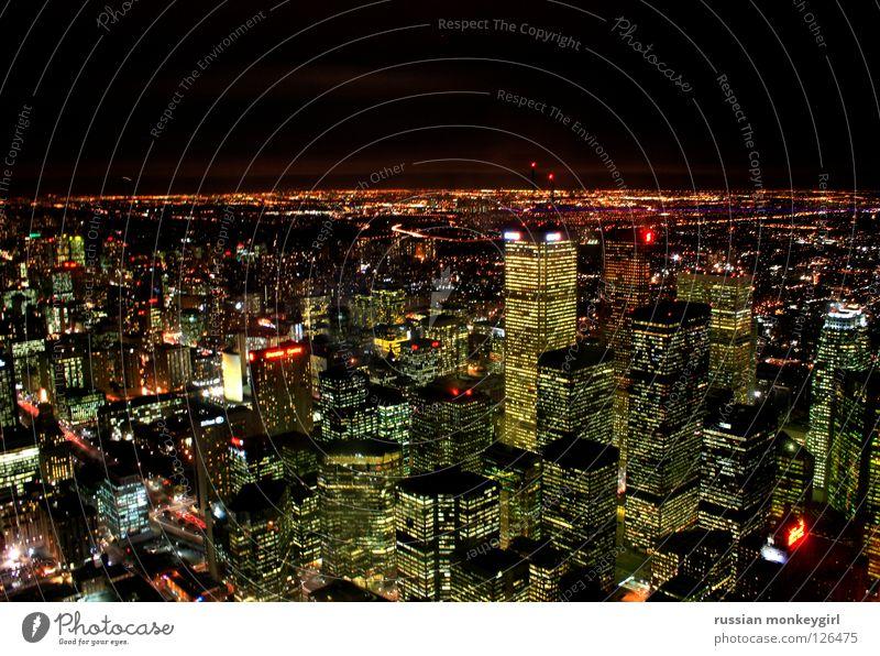 Canadian skyline - toronto Canada Dark High-rise House (Residential Structure) Lighting Horizon Toronto Skyline