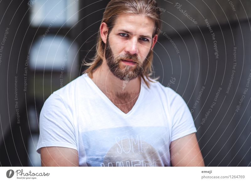 # Masculine Young man Youth (Young adults) 1 Human being 18 - 30 years Adults Long-haired Facial hair Beard Cool (slang) Hip & trendy Beautiful Earnest