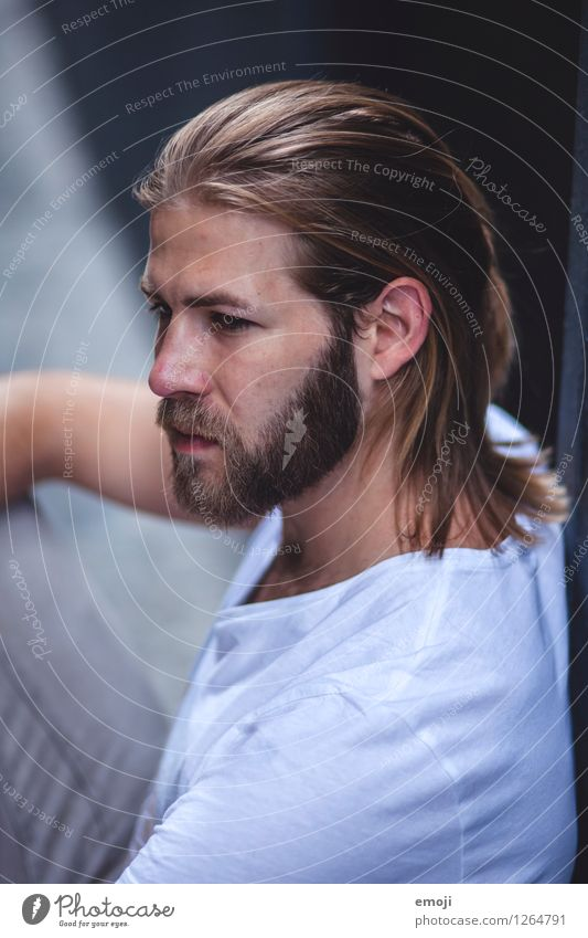 He did. Masculine Young man Youth (Young adults) Adults 1 Human being 18 - 30 years Long-haired Beard Cool (slang) Hip & trendy Beautiful Colour photo