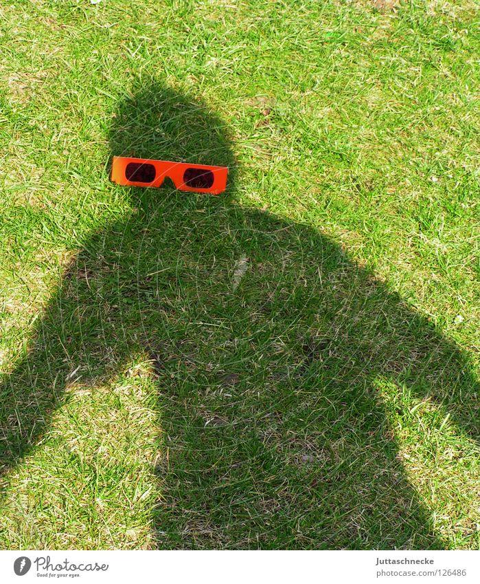 Mr. Bojangles Shadow Eyeglasses Silhouette Red Sunglasses Grass Green Joy Human being Garden the black man Juttas snail Joke