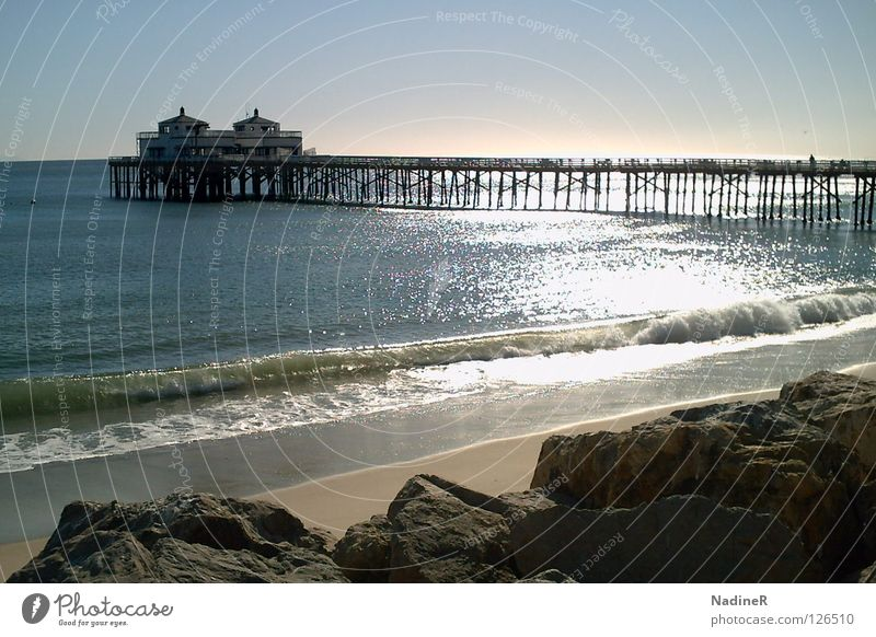 Beach Vacation & Travel Sand Coast USA Peace Blue sky California Los Angeles Highway One