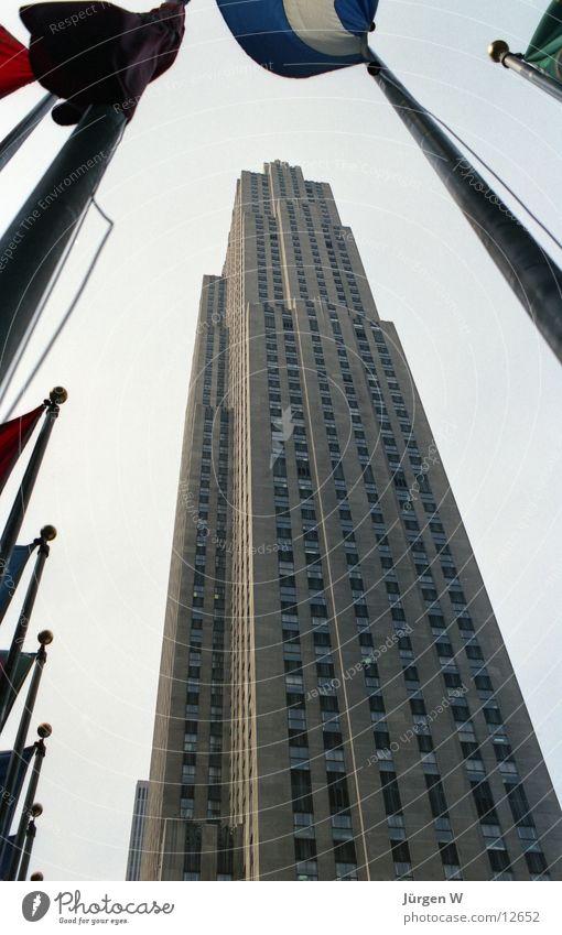 Building High-rise USA Flag Historic New York City North America Rockefeller Center