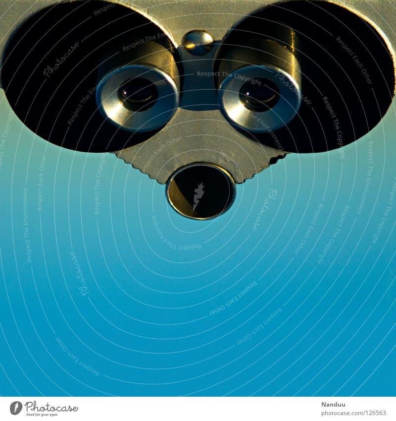 RoboMouse Robot Iron Graphic Abstract Opposite Vantage point Telescope Binoculars Progress Gray Round Sharp-edged Sweet Cute Artificial intelligence Observe