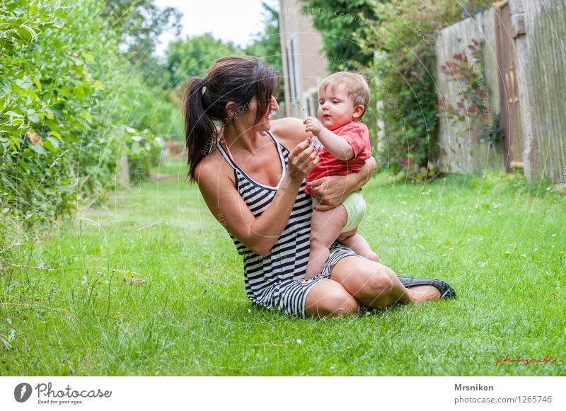 Together you're less alone Harmonious Well-being Contentment Summer Garden Human being Baby Woman Adults Parents Mother Family & Relations Infancy Life 2