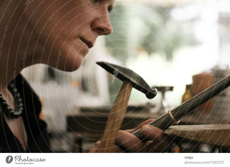 Goldsmiths 5 Work and employment Profession Craftsperson Arts and crafts  Craftsman Workplace Craft (trade) Hammer Woman Adults Life Face Fingers 1 Human being