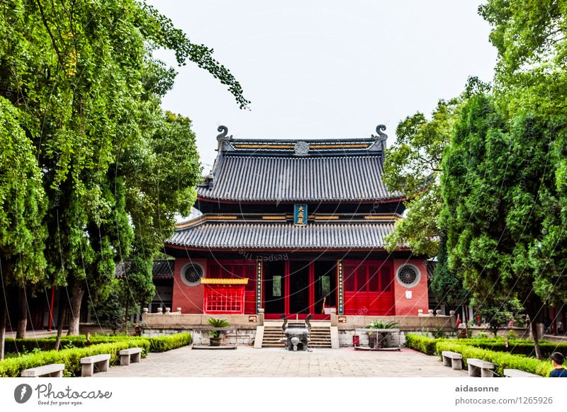 Temple in Jiangyin Town Deserted Building Tourist Attraction Contentment Joie de vivre (Vitality) Attentive Caution Serene Calm Buddhism China Jiangsu Red