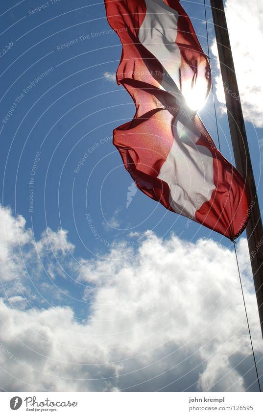Sky Sun Clouds Mountain Europe Flag Alps Austria Mountaineering Dazzle