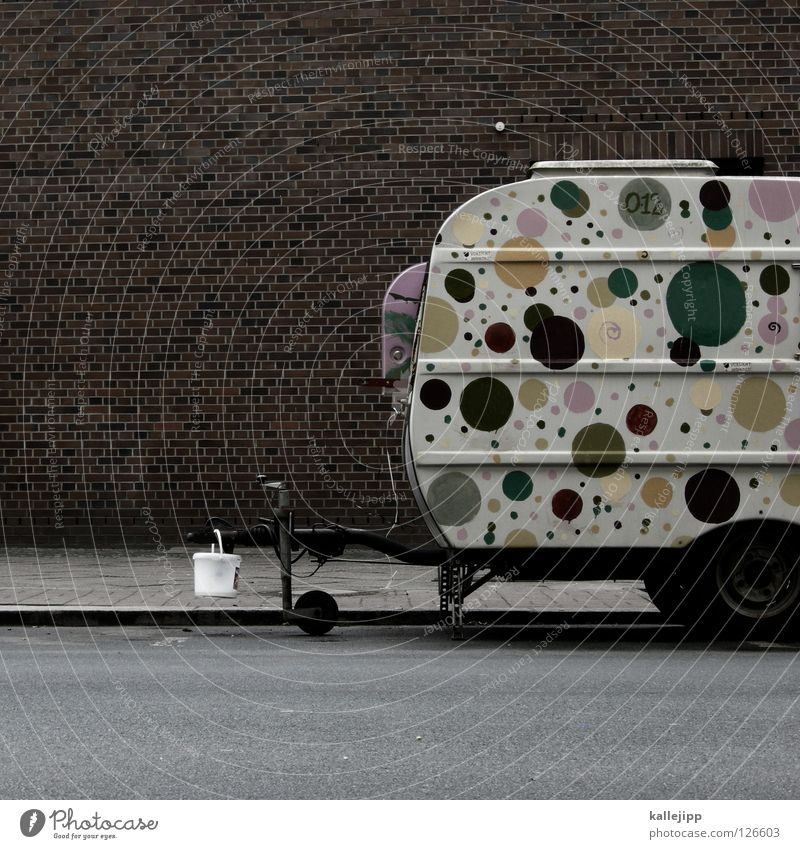 dotchen takes a vacation with anton Caravan Camping Vacation & Travel Point Pattern Carriage Leisure and hobbies Lifestyle Live Places Parking lot Bucket Clutch