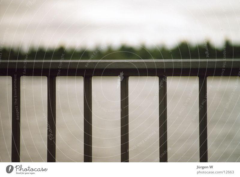 Water Bridge River Things Handrail Grating Rhine