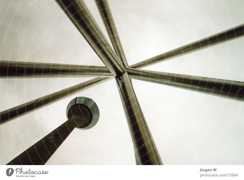 Sky Clouds Gray Architecture Tall Steel Duesseldorf Rheinturm
