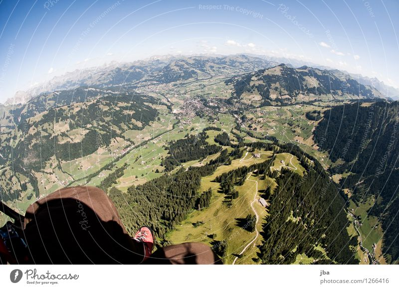 Sky Summer Relaxation Landscape Calm Mountain Life Sports Freedom Flying Lifestyle Horizon Contentment Leisure and hobbies Air Aviation