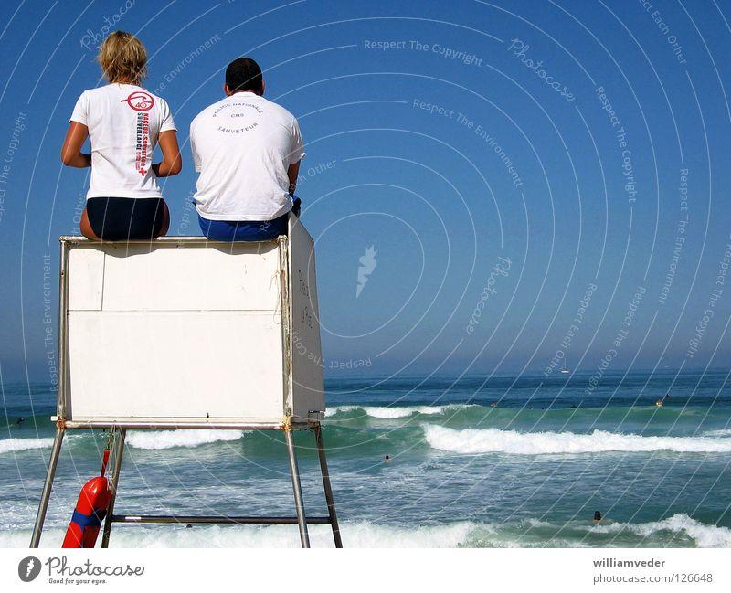 lifeguards Pool attendant Ocean Beach Summer Vacation & Travel Atlantic Ocean France bathing supervision