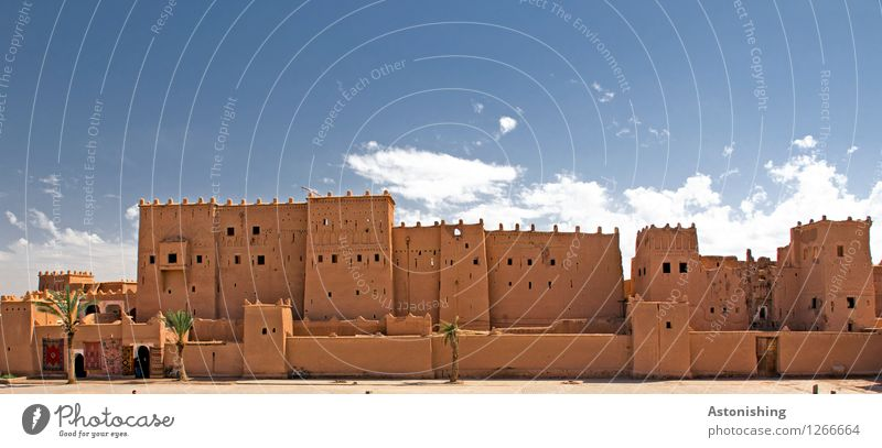 Kasbah in Ouarzazate Morocco Africa Town House (Residential Structure) Castle Ruin Places Tower Manmade structures Building Architecture Wall (barrier)