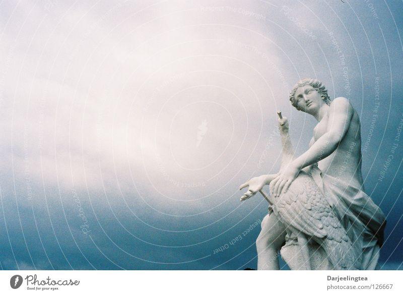 Sky White Blue Summer Clouds Art Culture Statue Historic Potsdam Chateau Sanssouci
