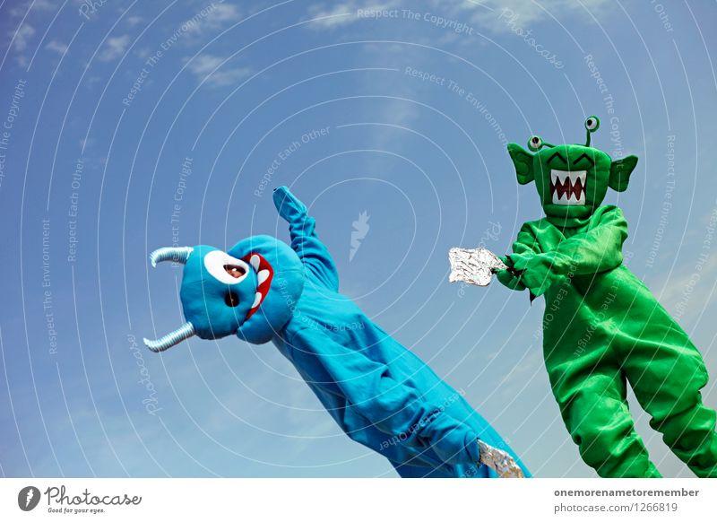 clash of species Art Work of art Esthetic Blue Green Martial arts Powerful Conquer Morale Combat position Combat dress Combat sports Laser Handgun Duel Costume