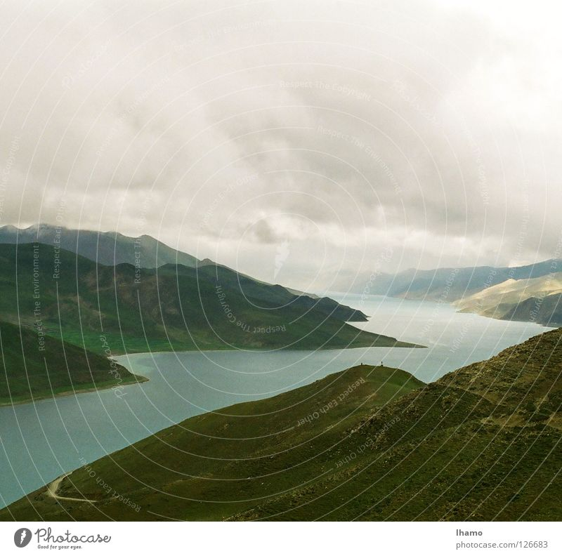 Blue Vacation & Travel Mountain Hiking Level Asia Discover Navigation Mountain range Fascinating Tibet High plain 1999