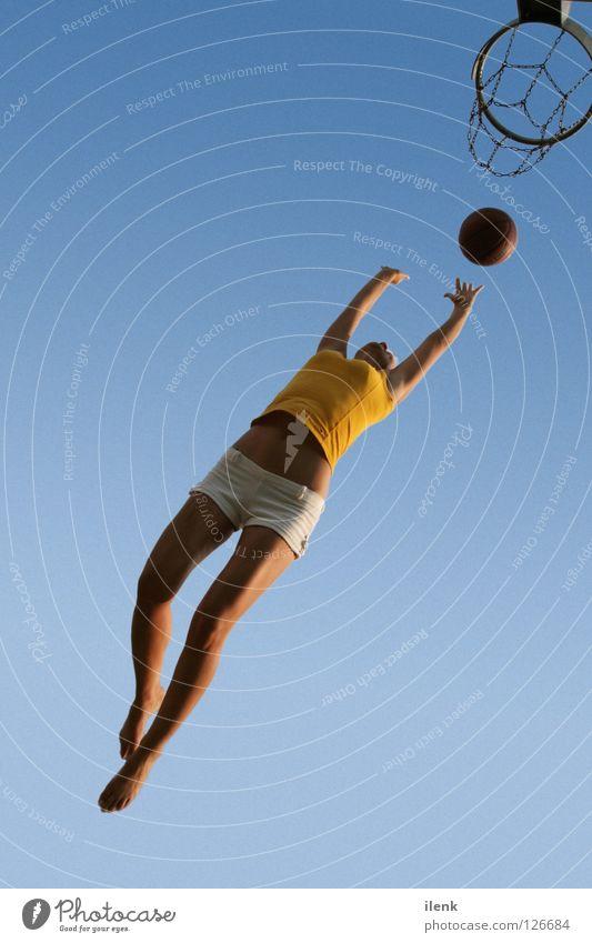 Woman Sports Jump Air Flying Ball Traffic infrastructure Athletic Basketball Freiburg im Breisgau Ball sports