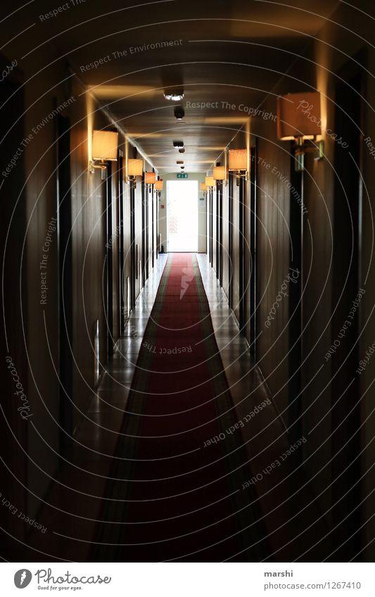 hotel corridor Vacation & Travel Flat (apartment) Interior design Lamp Moody Dark Hotel Corridor Vanishing point Carpet Living or residing Vacation destination