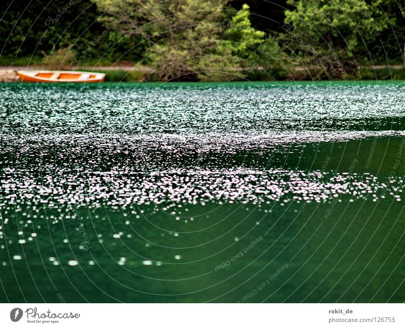 Green Meadow Cold Mountain Coast Lake Watercraft Orange Waves Broken Clarity Navigation Deep Flat Rowboat Allgäu