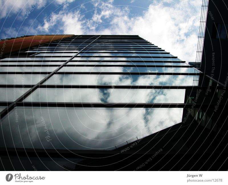 mirroring Window Reflection Building Clouds Architecture Glass Sky Blue