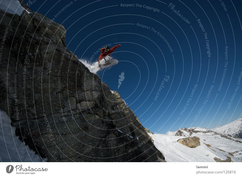 Will goes over the Rock Peak Background picture Jump Ledge Endurance White Switzerland Silvaplana Ski tour Snowboard Tracks Deep snow Sporting event Winter