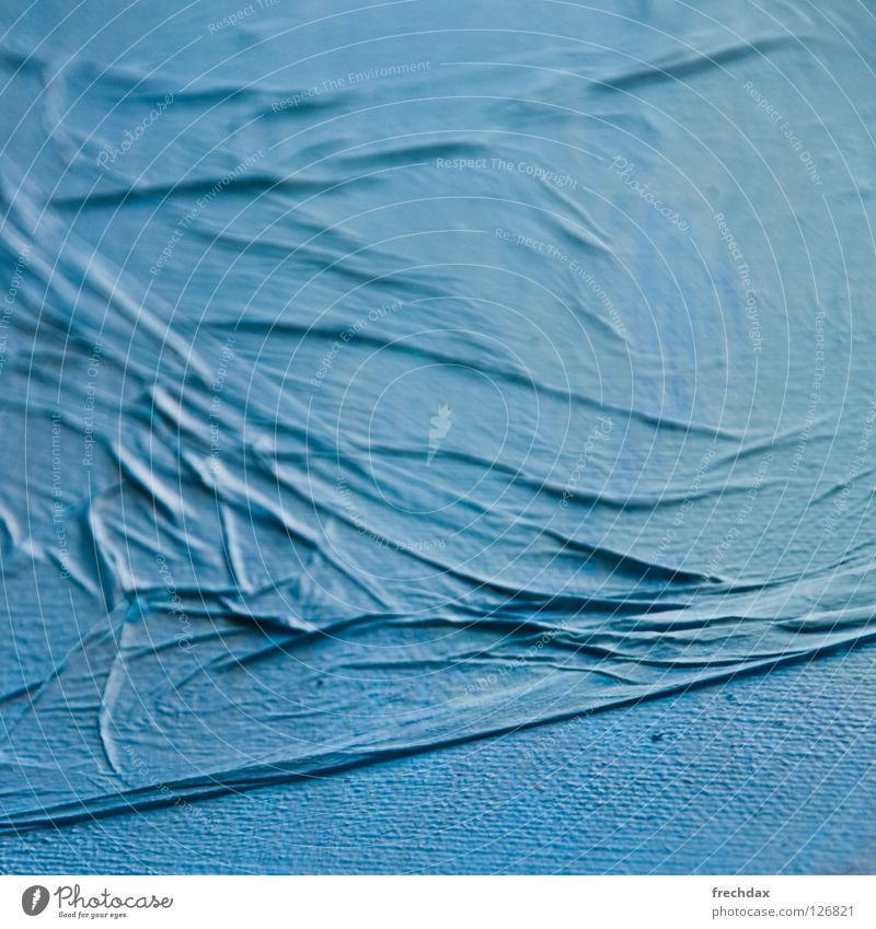 Ocean of Paper Blue tone Waves Tissue paper Cloth Grainy Swell Cyan Incline Square Blur Art Painting and drawing (object) Tone-on-tone Culture Shadow Image
