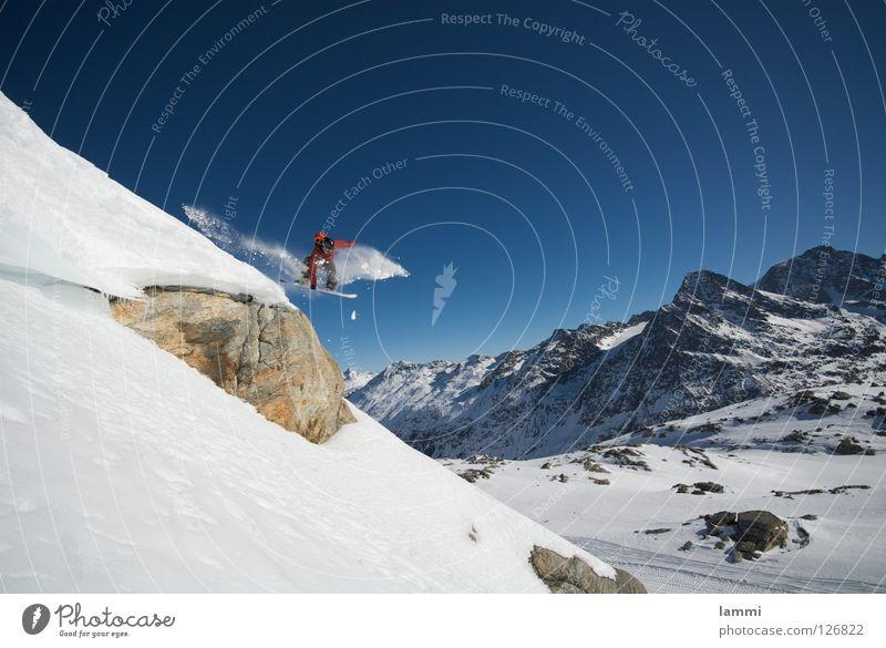 Sky Blue White Joy Winter Mountain Snow Flying Bright Rock Jump Weather Ice Tall Beautiful weather Peak