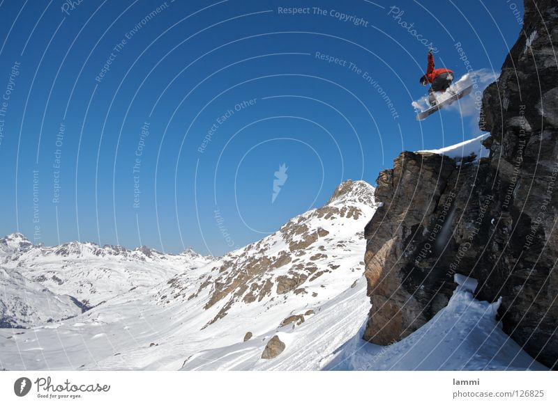 Sky Blue White Joy Winter Mountain Snow Background picture Flying Bright Rock Jump Weather Copy Space Tall Peak