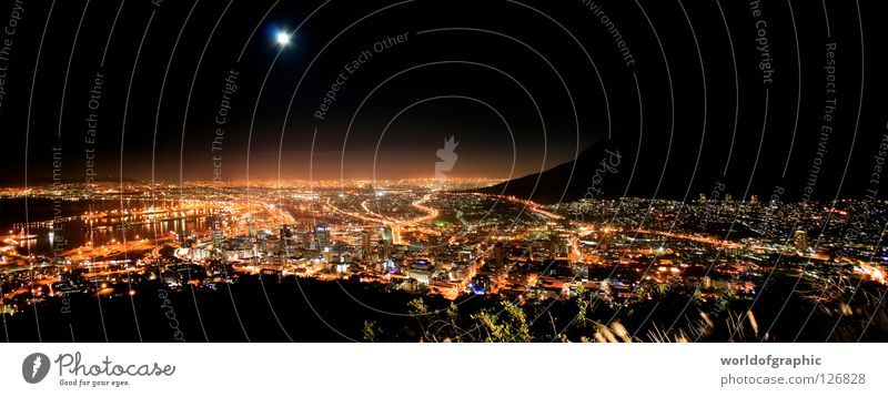 City Large Africa Panorama (Format) South Africa Cape Town Table mountain