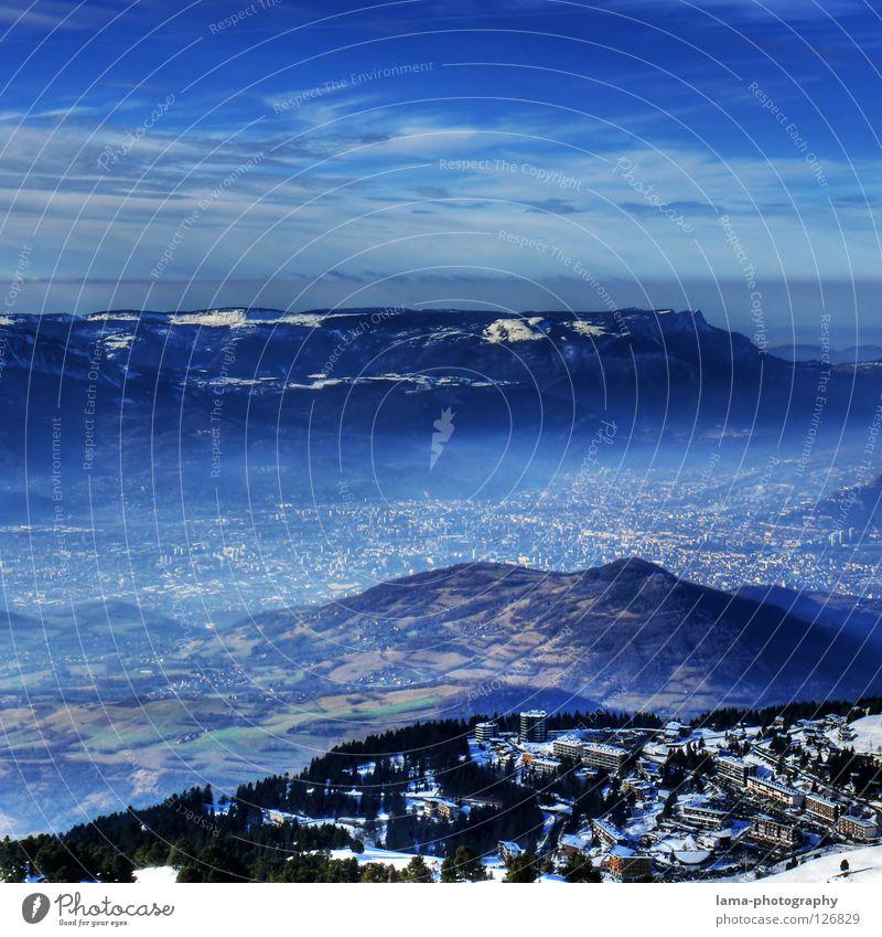 Sky Tree Ocean Blue City Clouds Dark Snow Mountain Dream Lake Earth Field Planning Fog Environment