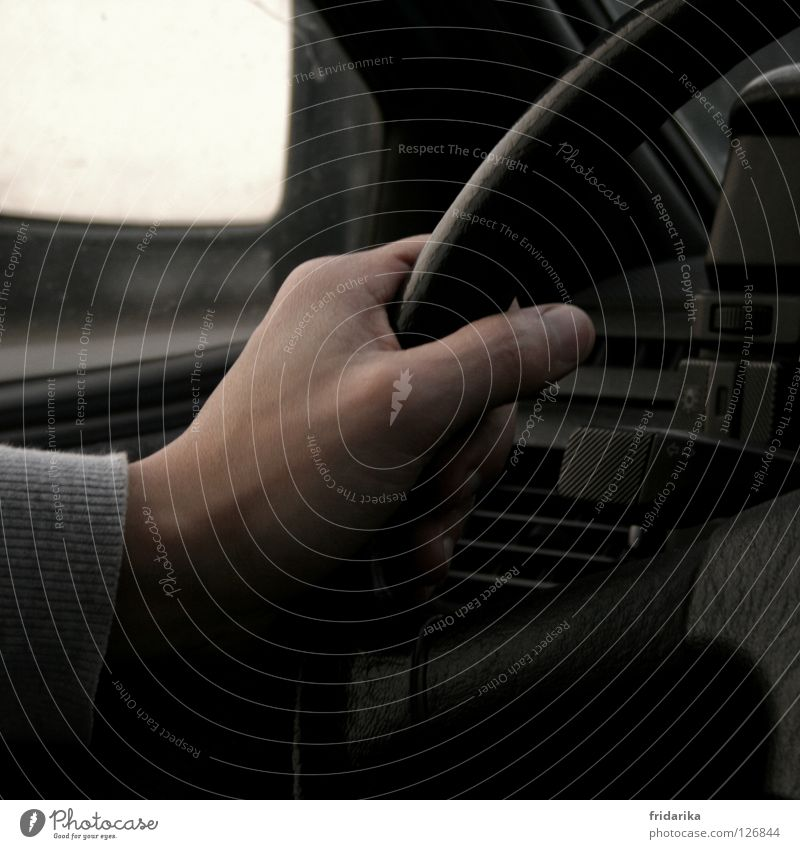 at the wheel Vacation & Travel Trip Mirror Skin Hand Fingers Thumb Thumbnail Fingernail Transport Street Lanes & trails Driving To hold on Black Target