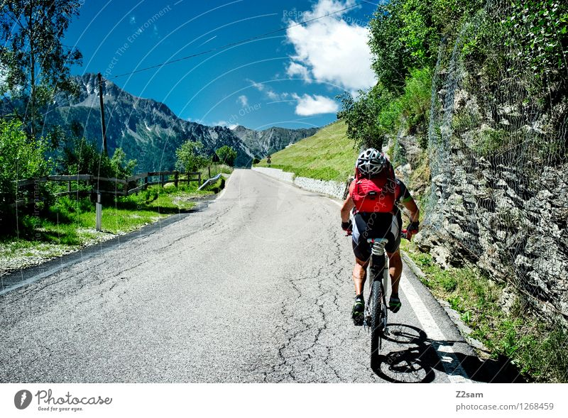 Sky Nature Vacation & Travel Man Summer Landscape Adults Mountain Sports Above Power Bicycle 45 - 60 years Cycling Italy Beautiful weather