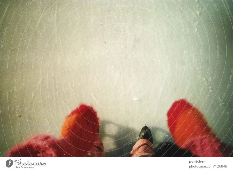 Human being Hand Winter Joy Black Cold Playing Style Legs Feet Art Ice Footwear Pink Leisure and hobbies Speed