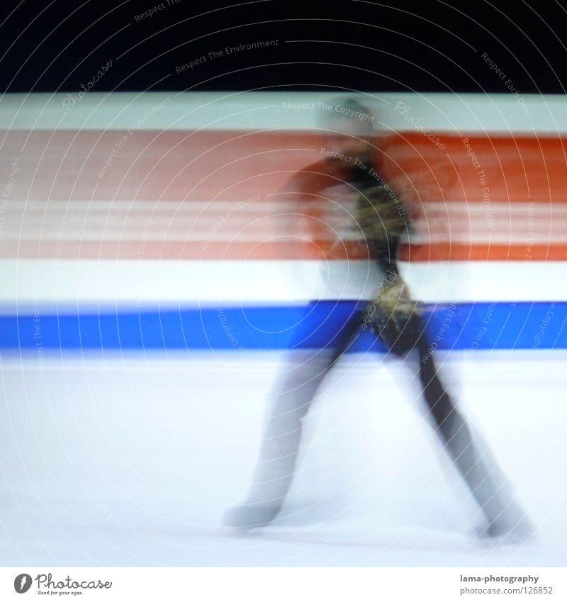 Human being White Black Movement Art Ice Elegant Walking Speed Stripe Driving Symbols and metaphors Lawn TV set Film industry Television