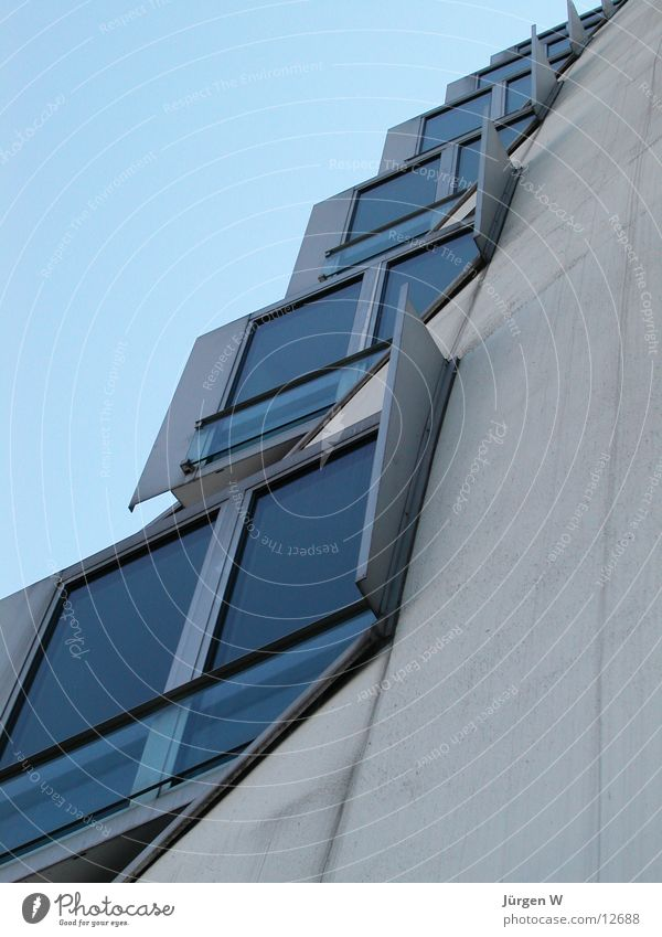 Sky Blue House (Residential Structure) Window Architecture Glass Crazy Modern Duesseldorf Gehry buildings