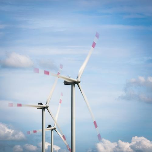 Clouds Movement Coast Energy industry Wind Technology Future Electricity 3 Wind energy plant North Sea Environmental protection Environmental pollution Blue sky