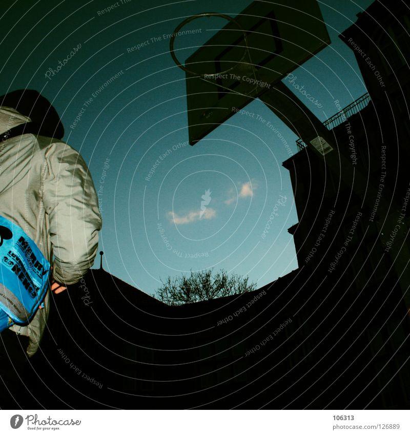 Woman Sky Winter Playing Above Jump Field Tall Success Action Target Attempt Throw Bag Backyard Basket