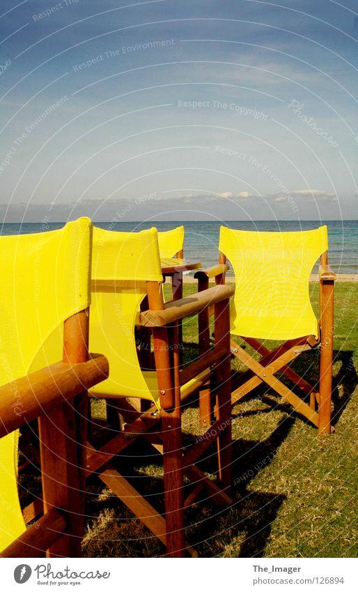 Water Ocean Summer Beach Vacation & Travel Calm Yellow Relaxation Autumn Island Chair Leisure and hobbies Mediterranean sea Camping chair