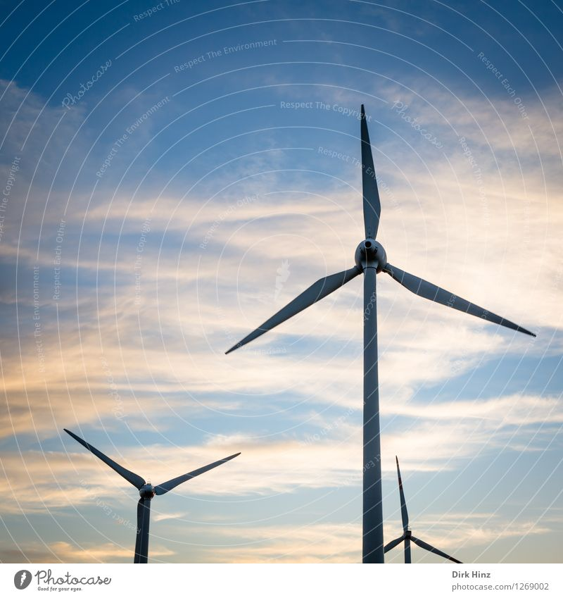 Sky Nature Blue Landscape Clouds Environment Coast Energy industry Field Aviation Wind Technology Future Electricity Industry Clean