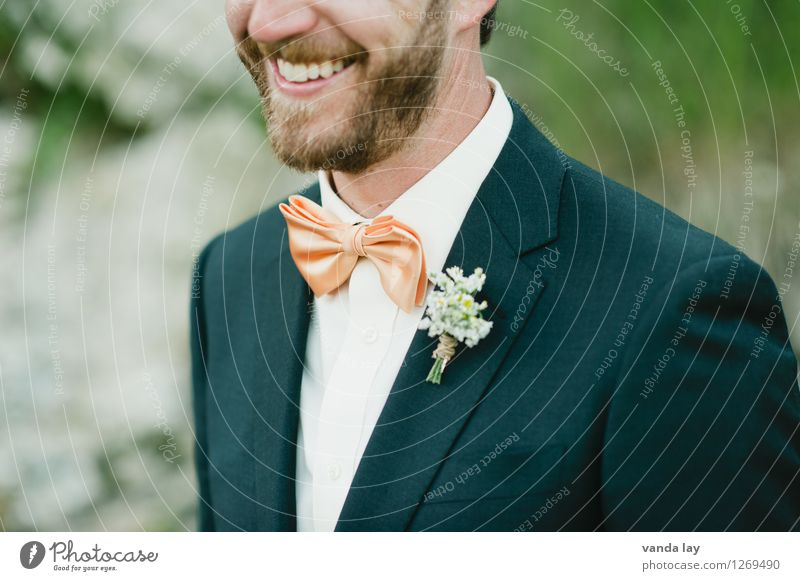 bridegroom Lifestyle Elegant Style Joy Feasts & Celebrations Wedding Birthday Baptism Human being Masculine Man Adults Mouth Teeth 1 18 - 30 years