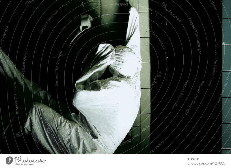 Human being Man White Black Wall (building) Room Bathroom Stripe Derelict Trashy Guy Sink Washhouse